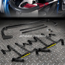 "BLACK 49""STAINLESS STEEL CHASSIS HARNESS BAR+BLACK 4-PT STRAP BUCKLE SEAT BELT"