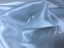 """Silver Sheer Iridescent 100% Polyester Organza Fabric 58"""" Wide Sold By The Yard"""