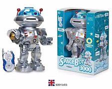Kids Remote Control SPACEBOT 3000 Retro Robot Toy Birthday Gift Stocking Filler