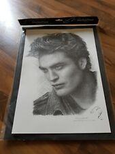 Robert Pattinson pencil drawing print