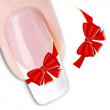 Pegatinas stickers Nº 11 decoración uñas al agua, nail art XF1365 pajarita roja