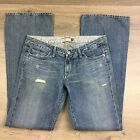Paige Laurel Canyon Boot Cut Destroyed Women's Jeans Size 31 NWOT Fit W34 (T6)