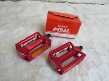 KKT 9/16 RED NOS AMX PEDALS BMX RACING FREESTYLE CRUISER VINTAGE BICYCLE