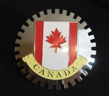 Canada Flag Canadian Grille Badge License Plate Topper Accessory Maple Leaf Flag
