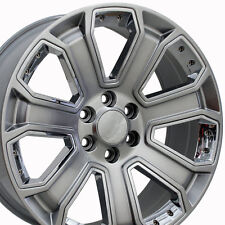 "GMC Denali 20"" Wheels 2015 Rims Silver Yukon Sierra Chevy Silverado Tahoe CK190"