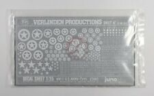 Verlinden 1/35 US Vehicle Stars Letters Numbers & Markings WWII (White) DTMI 305