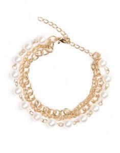 "Paparazzi ""Classically Cambridge"" Gold Bracelet"