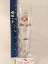 VINTAGE BELGIAN Beer Glass Braugold