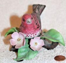 "Lenox "" Purple finch "" Porcelain Bird Figurine - Beautiful"