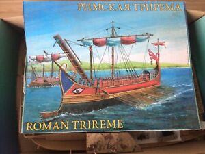 Zvezda 1/72 scale Ancient Roman Trireme battleship. Plastic model kit