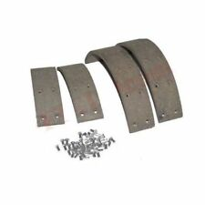 """Brake Shoe Pad Lining Kit Set With Rivets Willys Jeep Tractor 10"""""""