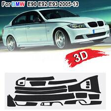 For BMW E90 E92 E93 2005-13 3D Matte Carbon Fiber Sticker Vinyl Decal Trim