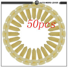Door Trim Panel Plastic Retainer 50pcs Push Rivet Fastener Clips for Ford GMC