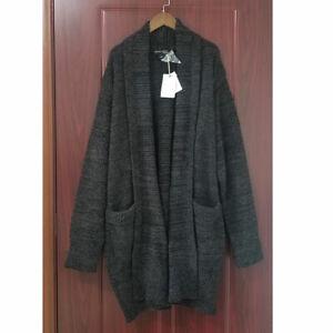 NWT Barefoot Dreams CozyChic Cali Cardigan Sweater Carbon Black Soft XL