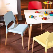 chaise >Tilde< bleu,  pieds hêtre (lot de 4 pce)