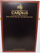 VHTF GOUDEN CAROLUS BEER BLACKBOARD IN WOODEN FRAME 25.5'' X 37.5''