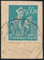DR 1922, MiNr. 245, Briefstück, Kurzbefund Weinbuch, Mi. 150,-
