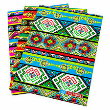 3 x a4 etnico carta Notebook Rilegato 160 pagine foderate scrittura Ufficio libri PADS