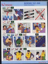 BRITANNIA TUI British Airlines B 767 300 airline SAFETY CARD airways sc721 ax