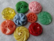 New listing Awesome Vintage Colorful Fancy Casein Pierced & Flowery Buttons