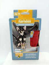 Kurgo Tru-Fit Smart Harness- Auto & Walking Harness- XS/TP 5-10 lbs. Red