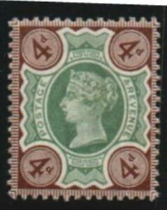 GREAT BRITAIN. 1887.4 d. DUP.#3.MOUNTED MINT.SG# 205