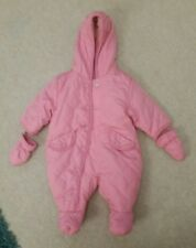Baby Girl Winter Snowsuit/Pramsuit all in one in great used condition 0-3 Months
