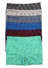 6 Mens Microfiber Boxer Briefs Underwear Seamless Compression One Size #MS52