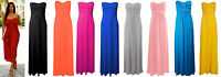 NEW WOMENS PLUS SIZE MAXI DRESS PLAIN KNOT BOOBTUBE BANDEAU STRAPLESS MAXI DRESS