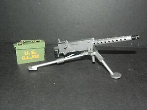 "G.I. JOE 12"" 1960s MACHINE GUN and AMMO BOX SET - VINTAGE - Free Shipping!"