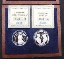 Göde - Die ersten EURO-Prägungen - 10 Euro 1996 - Karl I der Große +Präs.USA