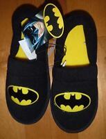 Boys Girls DC Comics BATMAN Slip on Slippers Size 9/10 11/12 13/1 2/3 Black Logo