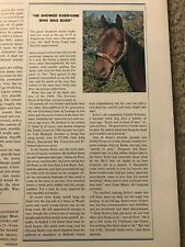 Vintage 1983 DEATH OF KELSO Sports Illustrated HORSE RACING RARE