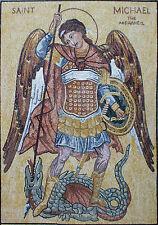 Icon Saint Michael Dragon Slay Marble Stones Marble Mosaic FG673