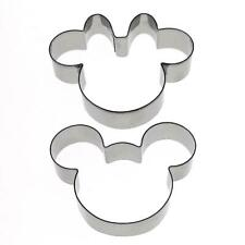 Mickey Minnie Mouse Cookie Cutter Fondant Pastry Baking Biscuit Metal Set