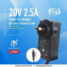 NEW AC Adapter 4 Zebra Thermal Printer TLP 2844 LP2844 2844-Z 20V 2.5A 12-mth wt