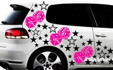 93-teiliges Sterne Würfel Cube Star Auto Aufkleber Tuning WANDTATTOO Blumen xxx1