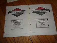 Briggs & Stratton 1982 Automotive Lock & Key Catalog