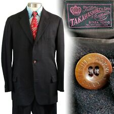 Vintage 1950s Takahashi Ginza Tokyo Custom Tailored Suit 40 33x33