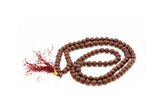 Mala chapelet rosaire perles en pierre Agate marron Tibetain Ø 7 mm  -AJ