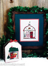 Erica Michaels HOLIDAY STABLES & SANTA'S GARAGE for Counted Cross Stitch