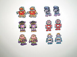 NEW pack! BULK 60 piece EMBROIDERY Iron on ROBOT PATCH motifs SEW MUST SEE VALUE