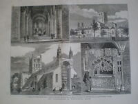 Restoration of Tewkesbury Abbey 1879 old prints