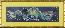 """Fab, Custom 'Chinese Dragon' Needlepoint Framed Canvas"""