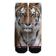 Function - Tiger Face Fashion Socks gorilla giraffe striped fur odd sox stance