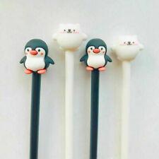 5pcs Penguin & Bear Big Head Gel Pen Stationery School Supplies.