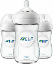 Philips AVENT SCF01337 Natural Baby Bottle Set, 9oz - 3 Pack