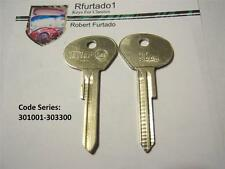 Key Blank for Vintage Saab Secondary 1967 to 1974 Classics (SB8) see code series