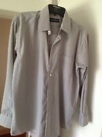 mens long sleeve striped shirt - collar size 15 1/2""