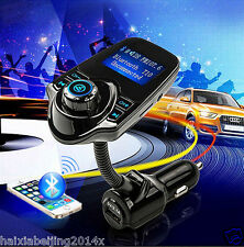 Car Bluetooth Handsfree MP3 Player Display Wireless FM Transmitter USB Charger